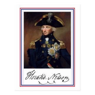 Horation Nelson Malerei und Autogramm Postkarte