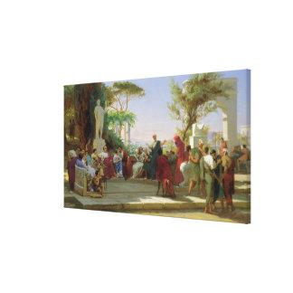 Horatius, das seine Satiren zu Maecenas, 1863 lies Leinwand Druck