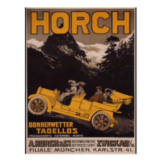 HORCH Automobil Postkarte