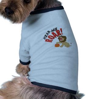 Hören Sie Brüllen Ringer Hunde-Shirt