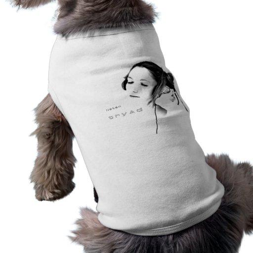 hören Sie durch tryad Hunde T Shirt