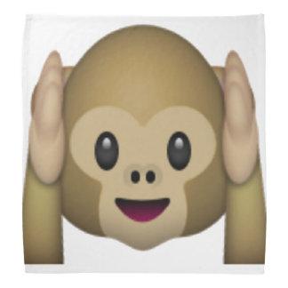 Hören Sie keinen schlechten Affen - Emoji Halstuch