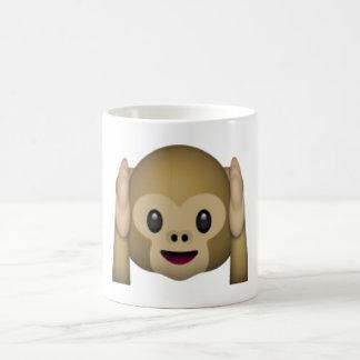 Hören Sie keinen schlechten Affen - Emoji Kaffeetasse