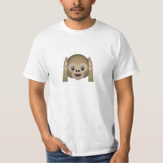 Hören Sie keinen schlechten Affen Emoji T-Shirt