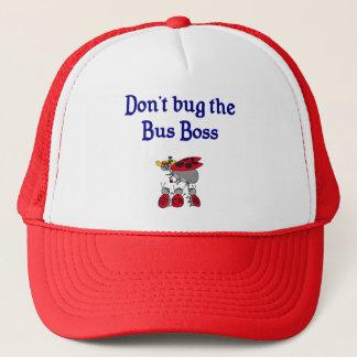 Hören Sie nicht den Bus-Chefhut ab Truckerkappe