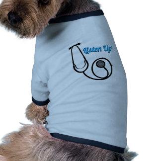 Hören Sie oben Hund T-shirts