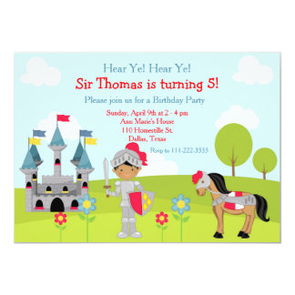 Hören Sie Ritter-Geburtstags-Party YE Karte