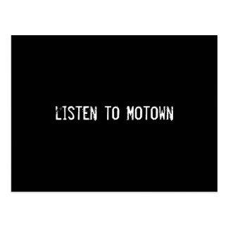 hören Sie zu Motown Postkarte