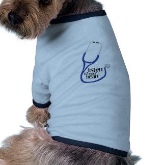Hören Sie zum Herzen Hund T Shirt