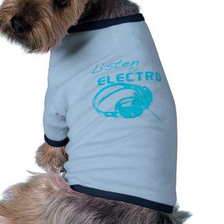 Hören Sie zur Electro Ringer Hunde-Shirt