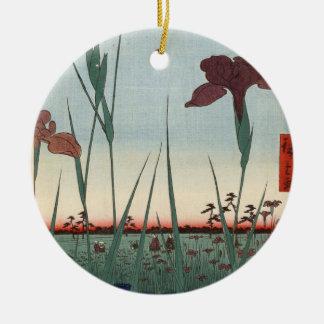 Horikiri Iris-Garten Keramik Ornament
