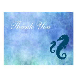 Horiz. Seahorse Thank Sie Postkarte