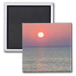 Horizont am Sonnenuntergang, Ägäisches Meer, die T Quadratischer Magnet