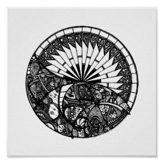 Horizont-Mandala Poster