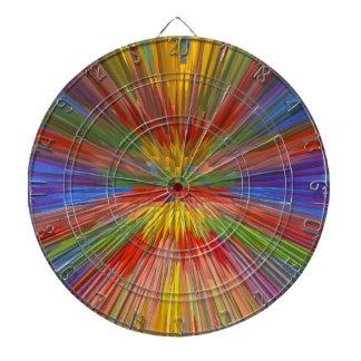 HORIZONT Regenbogen-bunter Streifen-romantischer Dartscheibe