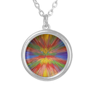HORIZONT Regenbogen-bunter Streifen-romantischer Versilberte Kette