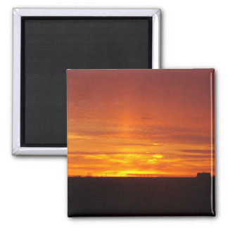 Horizont-Sonnenuntergang Quadratischer Magnet