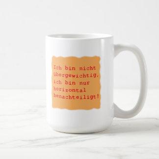 horizontal benachteiligt kaffeetasse