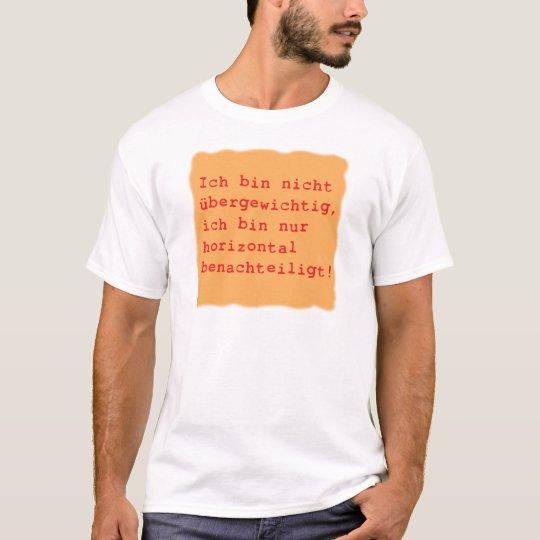 horizontal benachteiligt T-Shirt
