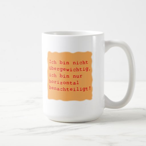 horizontal benachteiligt kaffee tasse
