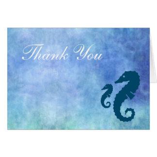 Horizontal - Seepferd danken Ihnen Karte