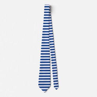 Horizontale blaue Streifen auf irgendeiner Farbe Personalisierte Krawatten