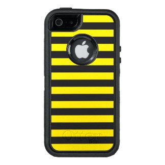 Horizontale gelbe Streifen OtterBox iPhone 5/5s/SE Hülle