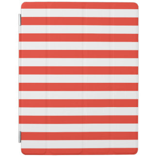 Horizontale rote Streifen iPad Hülle