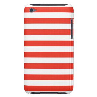 Horizontale rote Streifen iPod Case-Mate Case
