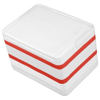 Horizontale rote Streifen Kühlbox