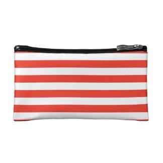Horizontale rote Streifen Makeup-Tasche