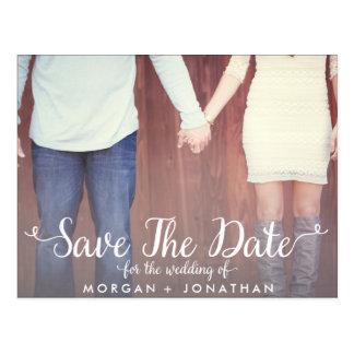 Horizontale Save the Date Postkarten-Schablone Postkarte