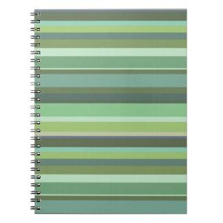 Horizontale Streifen des Olivgrüns Notizblock