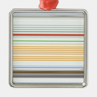 Horizontale Streifen Silbernes Ornament