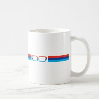 Horizontale Streifen und Nieren BMWs M Kaffeetasse