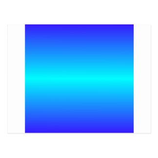 Horizontales elektrisches cyan-blaues und postkarte