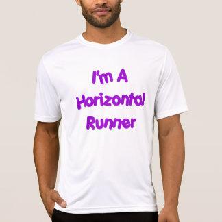 Horizontales Läufer-Shirt T-Shirt