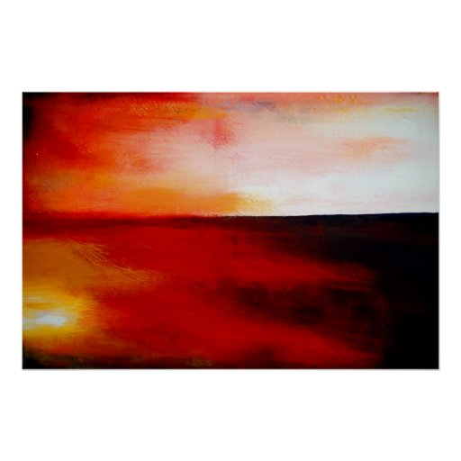 Horizontales rotes abstraktes Rechteck-Kunst-Druck Plakate