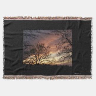 Horizontsonnenuntergang-Wurf Decke