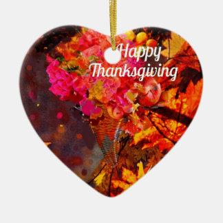 Horn von viel mit Blumen zum Dank Keramik Herz-Ornament