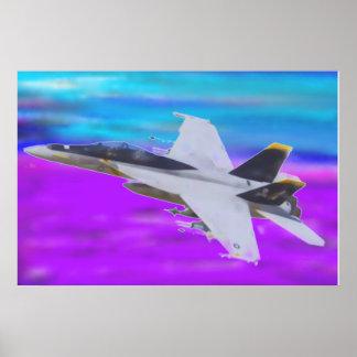 HORNISSE F-18 POSTER