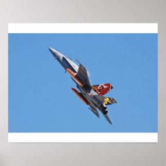 Hornissen-Spanisch-Luftwaffe F 18A Poster