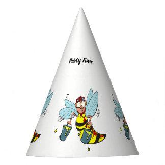 Hornissenwespebiene mit zwei Eimern Honig Partyhütchen