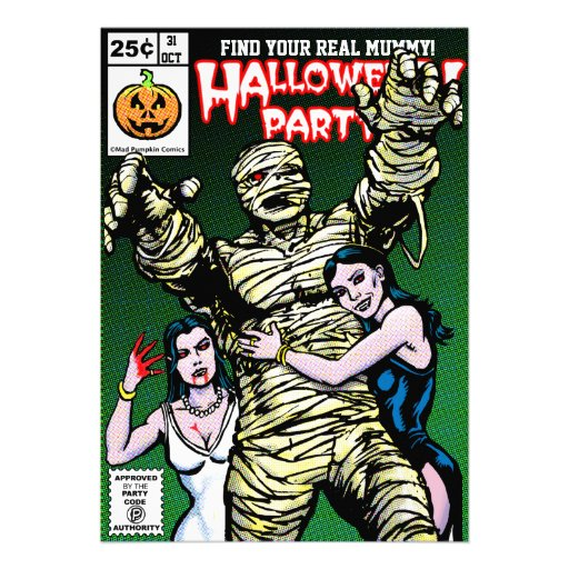 Horror-Comic-Art-Halloween-Party Einladungen