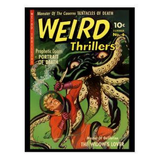 Horror-Comic: Sonderbare Thriller 4 Postkarte