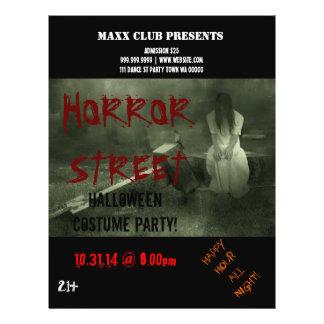 Horror-Halloween-Party-Ereignis-Mitteilungs-Flyer 21,6 X 27,9 Cm Flyer
