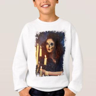 Horror-Mädchen-Kerzen-Freak-Creepy Horror Sweatshirt