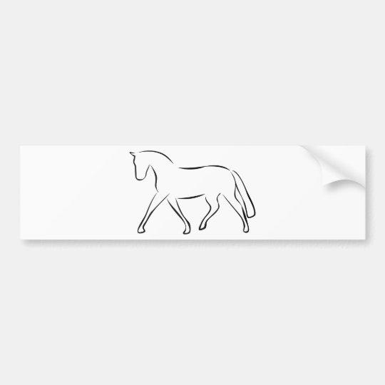 horse autoaufkleber