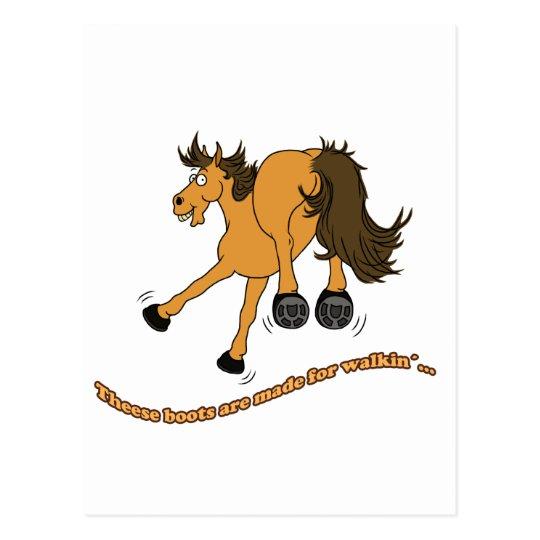 Horse boots postkarte