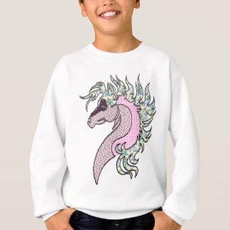 horse head quilt style sweatshirt
